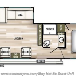 2019 Forest River Salem 27RKS floorplan image