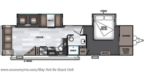 2019 Forest River Salem 32RLDS floorplan image