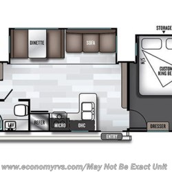2019 Forest River Salem 33TS floorplan image