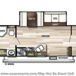 2019 Forest River Salem 37BHSS2Q floorplan image