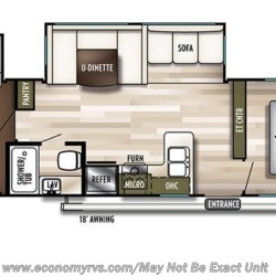 2019 Forest River Salem 31KQBTS floorplan image