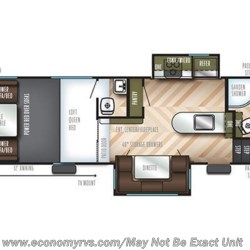 2019 Forest River Vengeance Rogue 324A13 floorplan image