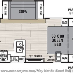 2019 Coachmen Spirit Ultra Lite 1943RB floorplan image