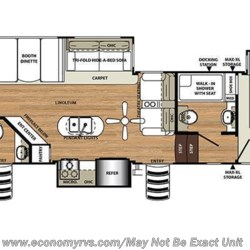 2019 Forest River Sierra 384QBOK floorplan image