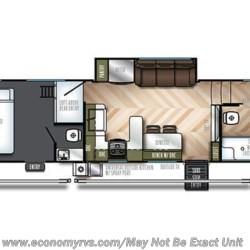 2019 Forest River Vengeance 345A13 floorplan image