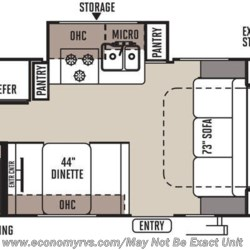 2016 Forest River Rockwood Mini Lite 2304KS floorplan image