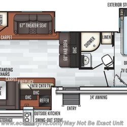 2019 Forest River Rockwood Signature Ultra Lite 8332BS floorplan image