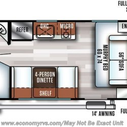 2019 Forest River Salem FSX 179DBK floorplan image