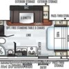 2019 Forest River Rockwood Mini Lite 2104S floorplan image