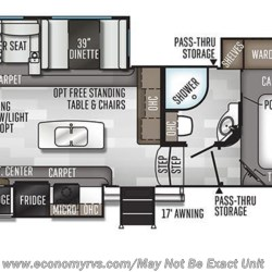 2020 Forest River Rockwood Ultra Lite 2888WS floorplan image