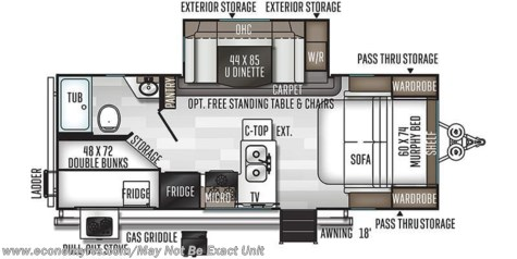 2020 Forest River Rockwood Mini Lite 2509S floorplan image