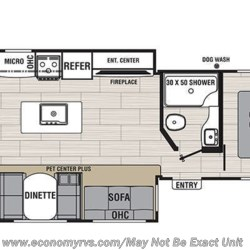 2020 Coachmen Spirit Ultra Lite 3379BH floorplan image