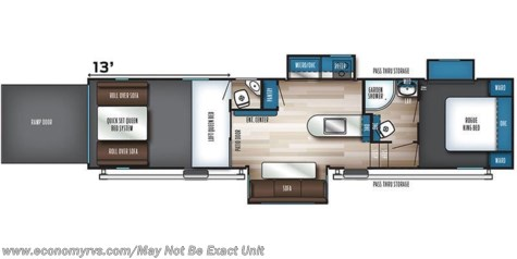 2020 Forest River Vengeance Rogue 324A13WS floorplan image