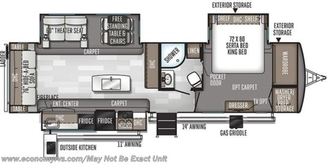 2020 Forest River Rockwood Signature Ultra Lite 8328SB floorplan image