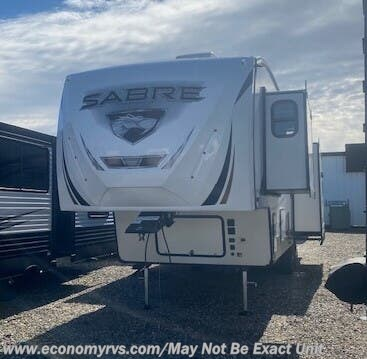 2020 Forest River Sabre 31IKT - New Fifth Wheel For Sale by Economy RVS, LLC in Mechanicsville, Maryland features Fire Extinguisher, Detachable Power Cord, Power Awning, Slideout, TV Antenna