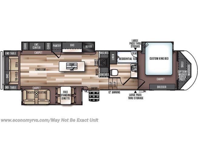 Floorplan of 2017 Forest River Salem Hemisphere Lite 337BAR