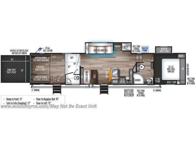 2021 Wolf Pack 335Pack13 by Forest River from Economy RVS, LLC in Mechanicsville, Maryland
