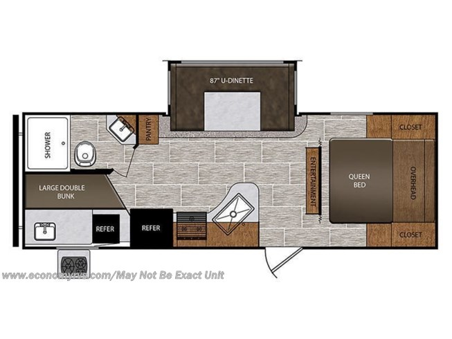 Floorplan of 2021 Prime Time Avenger ATI 24BHS