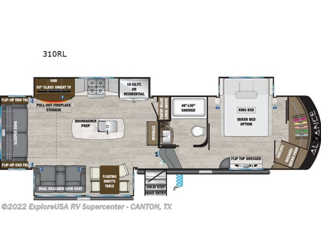 2021 Alliance RV Paradigm 310RL - New Fifth Wheel For Sale by ExploreUSA RV Supercenter - CANTON, TX in Wills Point, Texas features Slideout