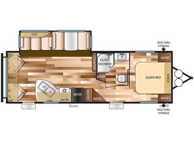 2017 Forest River Salem 27RLSS floorplan image