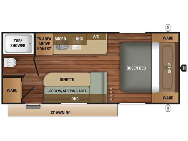 2018 Starcraft Autumn Ridge Outfitter 18QB floorplan image
