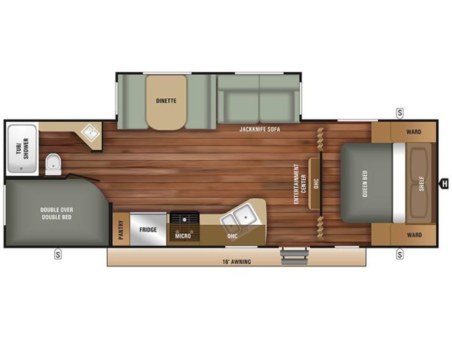 Floorplan of 2019 Starcraft Autumn Ridge Outfitter 26BHS