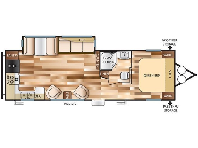 2018 Forest River Salem 27RKSS floorplan image