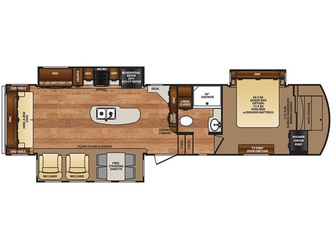 2017 Forest River Wildcat 32WB floorplan image