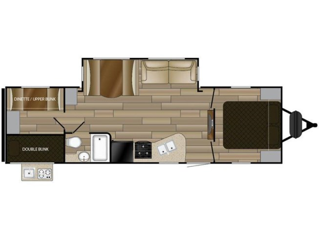 2018 Cruiser RV MPG 2800QB floorplan image