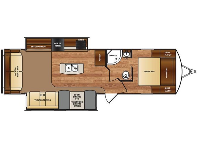 2018 Forest River Wildcat 312RLI floorplan image