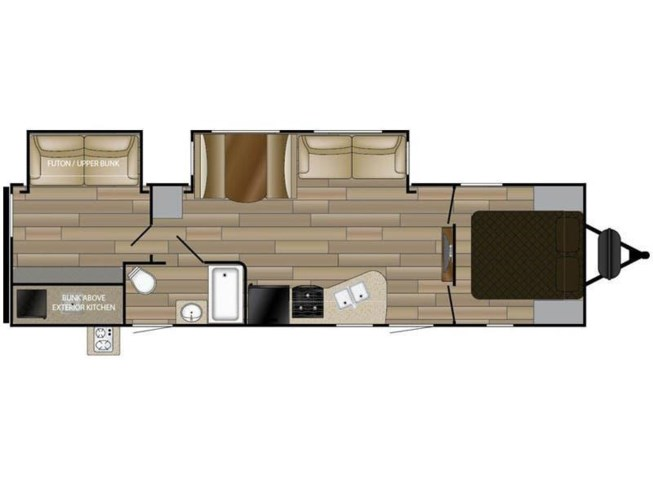 2018 Cruiser RV MPG 3100BH floorplan image