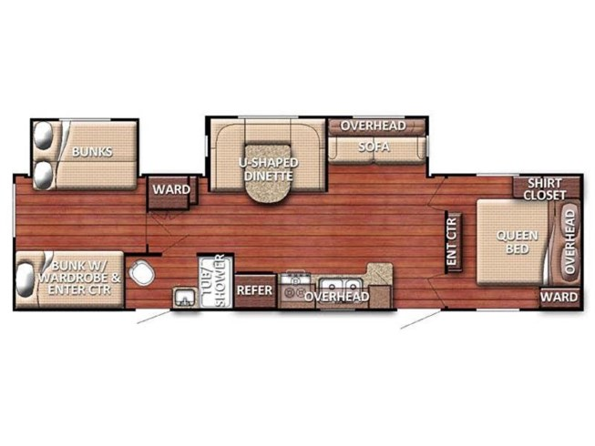 2017 Gulf Stream Conquest 323TBR floorplan image