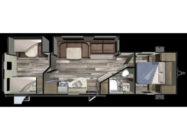 2019 Starcraft Launch Outfitter 31BHS - New Travel Trailer For Sale by Columbus Camper Center LLC in Columbus, Georgia features Air Conditioning, Auxiliary Battery, Awning, Bunk Beds, Converter, Enclosed Water Tank, Exterior Speakers, External Shower, Furnace, Inverter, Leveling Jacks, LP Detector, Medicine Cabinet, Microwave, Non-Smoking Unit, Oven, Power Awning, Queen Bed, Refrigerator, Roof Vents, Self Contained, Shower, Skylight, Slideout, Spare Tire Kit, Stove, Stove Top Burner, Toilet, TV Antenna, Water Heater
