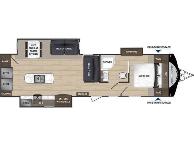 2019 Dutchmen Aerolite 3153ML floorplan image