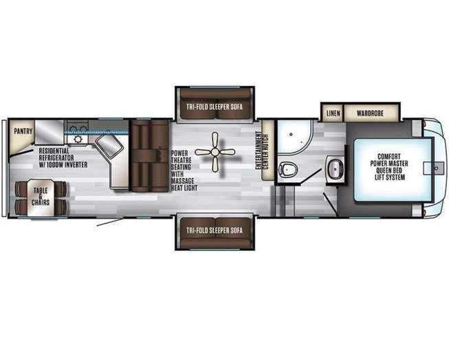 2019 Forest River Cherokee Arctic Wolf 305ML floorplan image