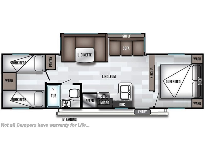 2019 Forest River Salem 29QBLE floorplan image