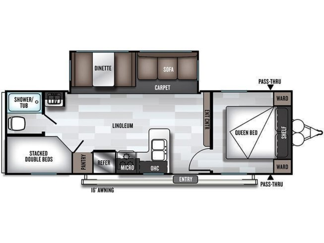 2019 Forest River Salem 26DBLE floorplan image