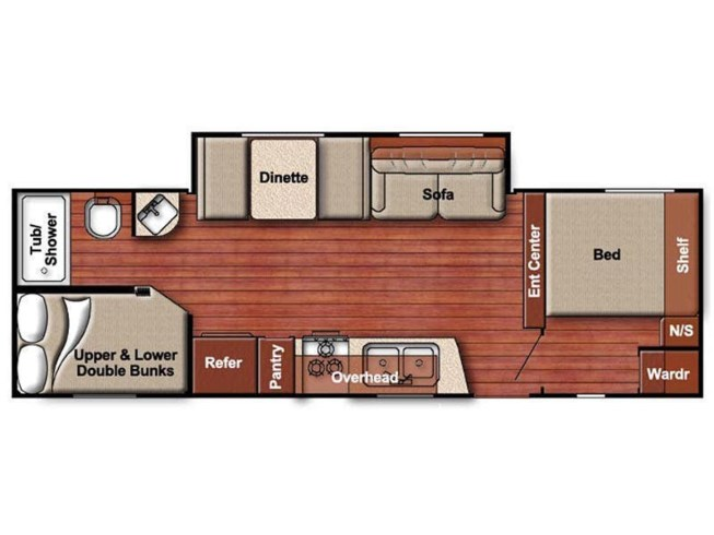 Floorplan of 2020 Gulf Stream Ameri-Lite 255BH