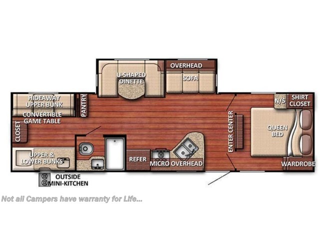 Floorplan of 2020 Gulf Stream Conquest 301TB