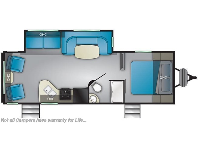 Floorplan of 2021 Heartland Trail Runner 25RL