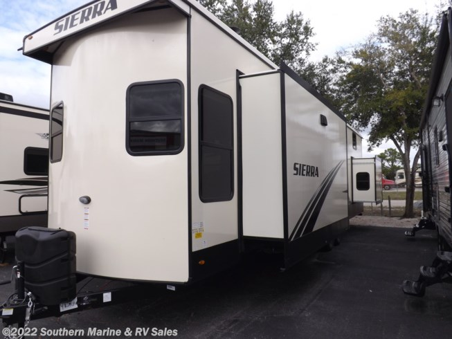 2020 Forest River Sierra Destination 399 LOFT - New Destination Trailer For Sale by Southern Marine & RV Sales in Ft. Myers, Florida features TV, Stove, 50 Amp Service, Air Conditioning, Solid Surface Countertops