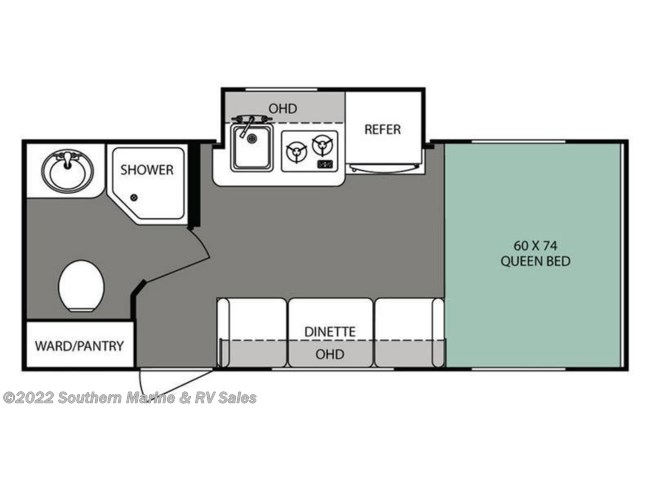 Floorplan of 2016 Forest River R-Pod RP-180