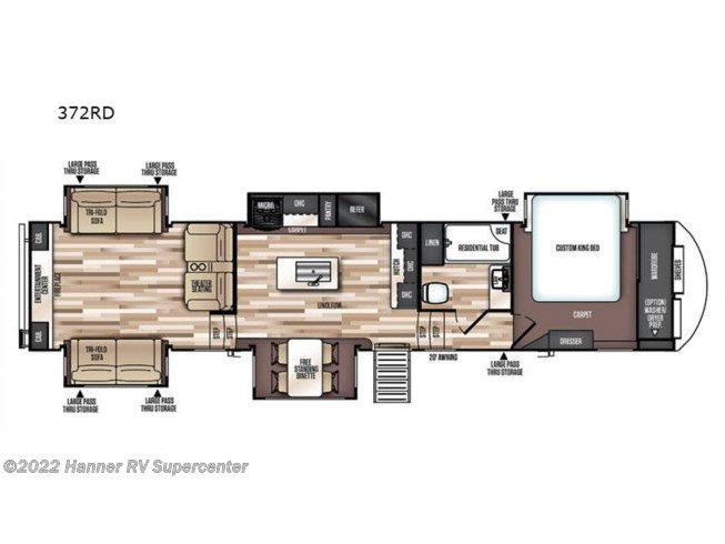 2020 Forest River Wildwood Heritage Glen LTZ 372RD - New Fifth Wheel For Sale by Hanner RV Supercenter in Baird, Texas features Slideout