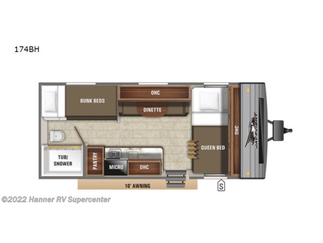 2020 Jayco Jay Flight SLX 7 174BH - New Travel Trailer For Sale by Hanner RV Supercenter in Baird, Texas
