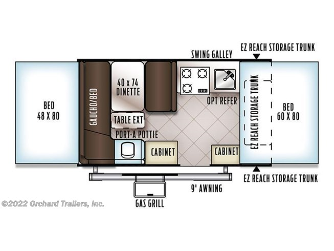 2018 Forest River Rockwood 1910ESP floorplan image