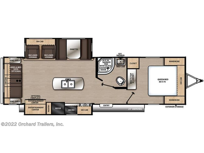 Floorplan of 2019 Coachmen Catalina 293RLDS