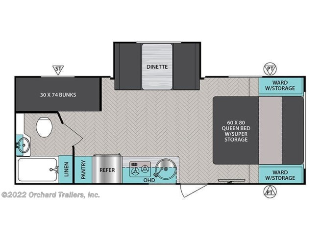 Floorplan of 2021 Forest River IBEX 20BHS