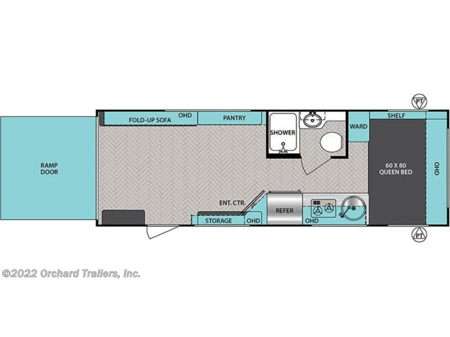 Floorplan of 2021 Forest River IBEX 19QTH