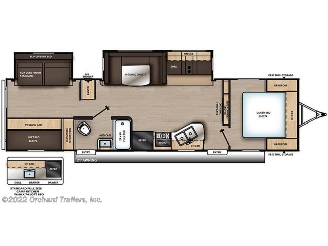Floorplan of 2021 Coachmen Catalina Legacy Edition 323BHDSCK