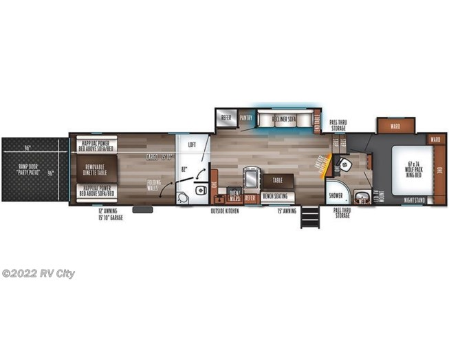 2020 Forest River Cherokee Wolf Pack 365PACK16 floorplan image